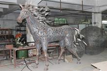 Wrought iron Sea horse crafts decoration metal sculpture