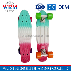 High quality colorful 27'' penny skateboard, Tricolor longboard