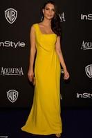 Celebrity Inspired Emily Ratajkowski Warner Bros. Golden Globes after party Yellow One Shoulder Dress