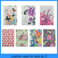 For apple ipad series new arrived smart standing rotate ipad air 2 ipad 6 leather case
