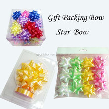 Gift packing/holiday decoration wrapping plastic star bow and ribbon egg