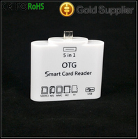 New 5 in 1 Micro USB OTG Card Reader SD TF Card Adapter for Samsung BDL-78