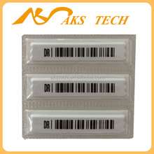 EAS system white and barcode 58KHz dr label sticker