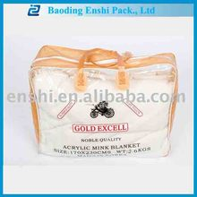 import China products clear pvc blanket storage bag