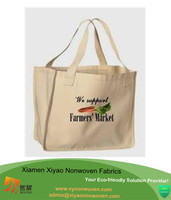 China supplier custom logo printed heavy canvas tote bag