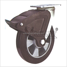 Elastic Rubber Wheel / Heavy Duty Wheel Castor Rigid Made in China