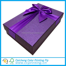 Large size bow tie custom print packing gift box for wedding gifts