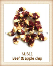 beef and apple chip Pet Food dog snacks Natural and Healthy dry dog treats