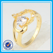 Factory price drill crystal 2 gram plated gold latest gold finger ring designs