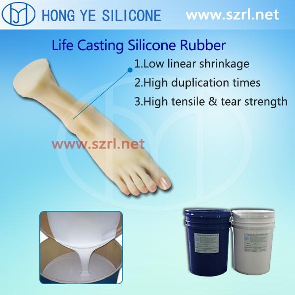 Polymérisation de caoutchouc de silicone