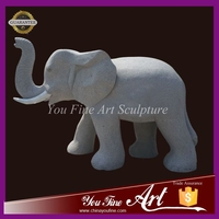 Carved garden Granite stone elephant for sale