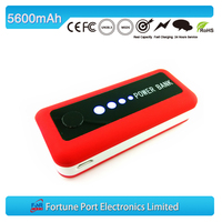 With led power bank for tablets mobiles and cameras 5600mah