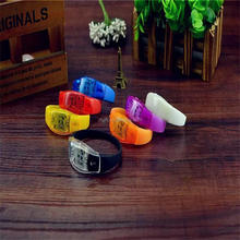 LED Flashing For Promotional Gift, Night Club, Pubs, Concert, Night Racing Or Party Wristband Remote Controlled LED wristband