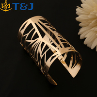 >>>2016 new Wide open gold plated cuff bracelet jewelry fashion European style personality bracelets&bangles for women/