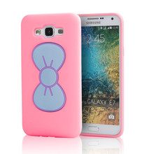 2015 High quality wholesale tpu and silicone back case for Samsung galaxy E7
