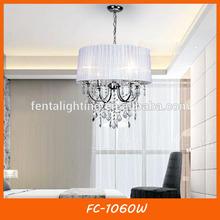 Hermosa cubierta de tela de araña de cristal de iluminación para el comedor fc-1060w