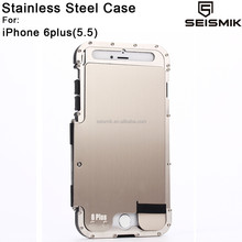 5.5 inch Mobile Stainless Steel Phone Case for iPhone 6 plus