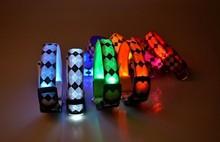 LS-01541 2015 Best Selling LED Dog Collar and Leash, Waterproof LED Pet Dog Leash,Hot Sale LED Used Dog Training Collar