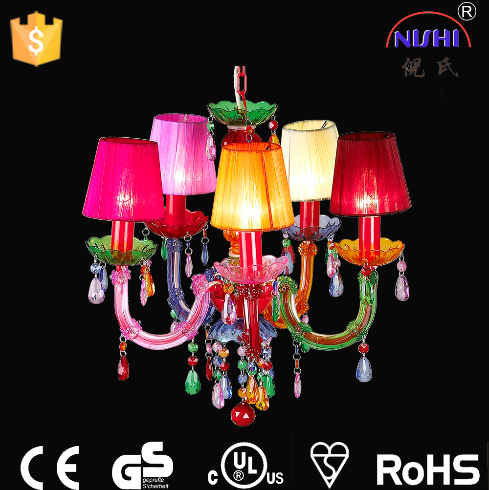 Factory Whole Colorful Acrylic Chandelier Light With Ul Approval Ns 120071m Plastic Chandeliers