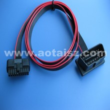 China online shopping obdii diagnosic flat cable M to F wire