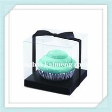 Square new decorative transparent plastic cake packaging