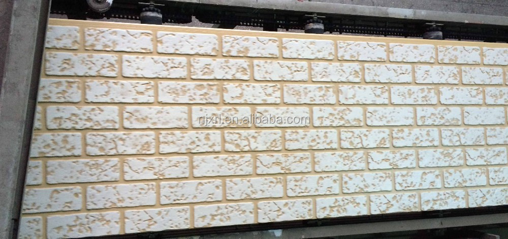modern painting exterior wall siding in face brick pattern