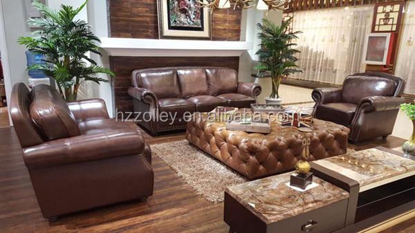 Gros chine meubles de maison salon moderne 321 canapé en cuir ...