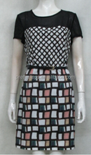 2015 PRETTY STEPS latest dress designs coloful chiffon summer dresses for women 2015