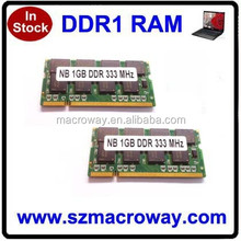 Hot selling fully compatible PC400 original chips laptop ddr1 ram 1gb