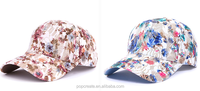 2015 floral printed hot sale girls lace Cap