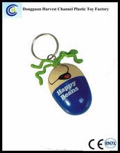 Retractrable Carton Ballpoint Pen with Keychain