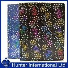 Colurful Diamond Bling Flower Tablet Case For iPad 4
