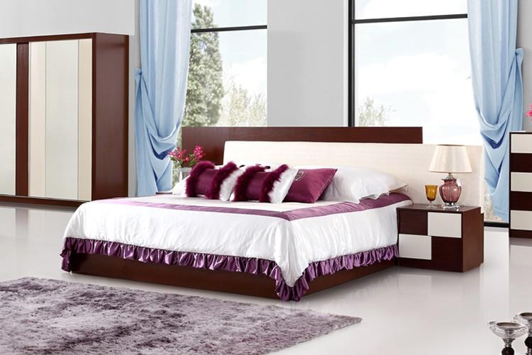 EDY03 Moden diseño cama king size de madera marco muebles Foshan ...