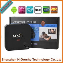 Amlogic S802 mxiii quad Core 4k google tv box skype XBMC mini pc smart android 4.4 digital tv receiver az play tv box 1GB/8GB