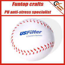 Hot selling baseball shape pu foam sports stress ball