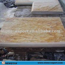 wooden yellow slate swimming pool stone