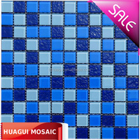 Best quality warter park swimming pool glass mosaic tiles
