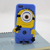 Hot Sale 3D Cartoon Design Despicable Me Slicone Phone Case For Iphone 5G