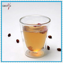 classic double wall chinese glass tea cup