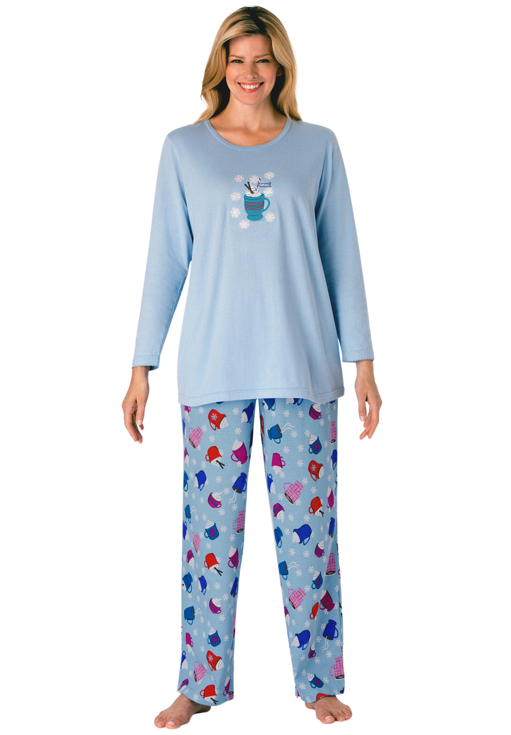 Womens cotton pajamas are available in cool and breezy knits and cozy fabrics for every season. Browse our flannel PJs and find the perfect set for cooler weather. Cotton Knit Ski Pajamas for Women. Cotton Knit Ski Pajamas for Women - -.
