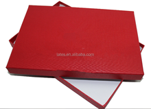 High quality customized Fancy silk scarf packaging red gift boxes