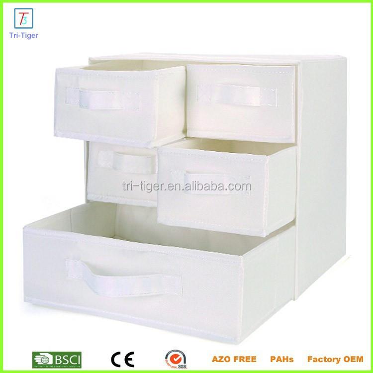 3 plateau 5 tiroir de sous v tements chaussettes divers pliant tissu tiroir bo te de rangement - Boite de rangement vetement ...