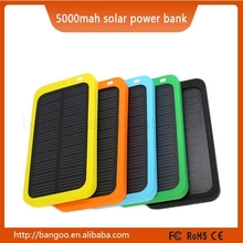 5000mah portable solar mobile phone charger/solar cell phone charger/solar power bank