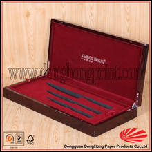 Wholesale flat wooden pencil case with compartments