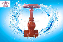 200 PSI UL FM APPROVED RISING STEM GATE VALVE WITH GROOVED END