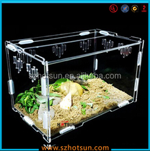 Eco-Friendly plexiglass reptile cages with vent holes