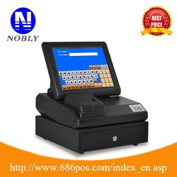 LINUX operating system all in one touch screen POS cash registers for retail ,food,beverage,smart,grocery
