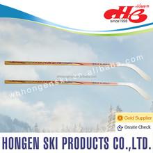 factory made pure wood hockey sticks --laminated wood shaft + wood blade