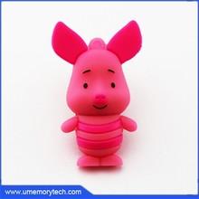 Piglet cartoon design usb flash drive female cute pig usb disk new usb flash disk