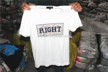 used T shirts with short sleeves summer men's used clothes